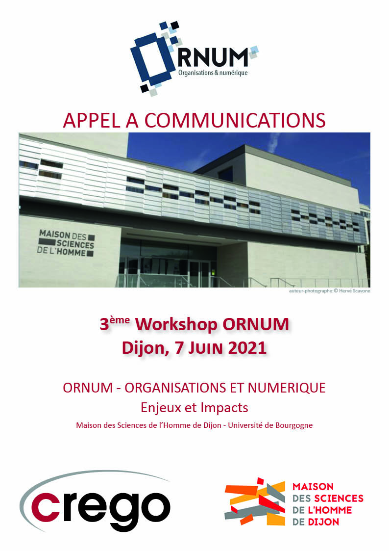 Capture ORNUM 2021 Appel à communications